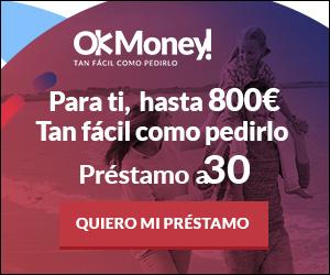 Consigue hasta 600 € en 10 minutos en Ok Money